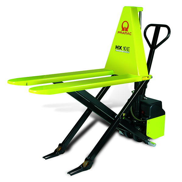 An example of a scissor lift pallet truck.