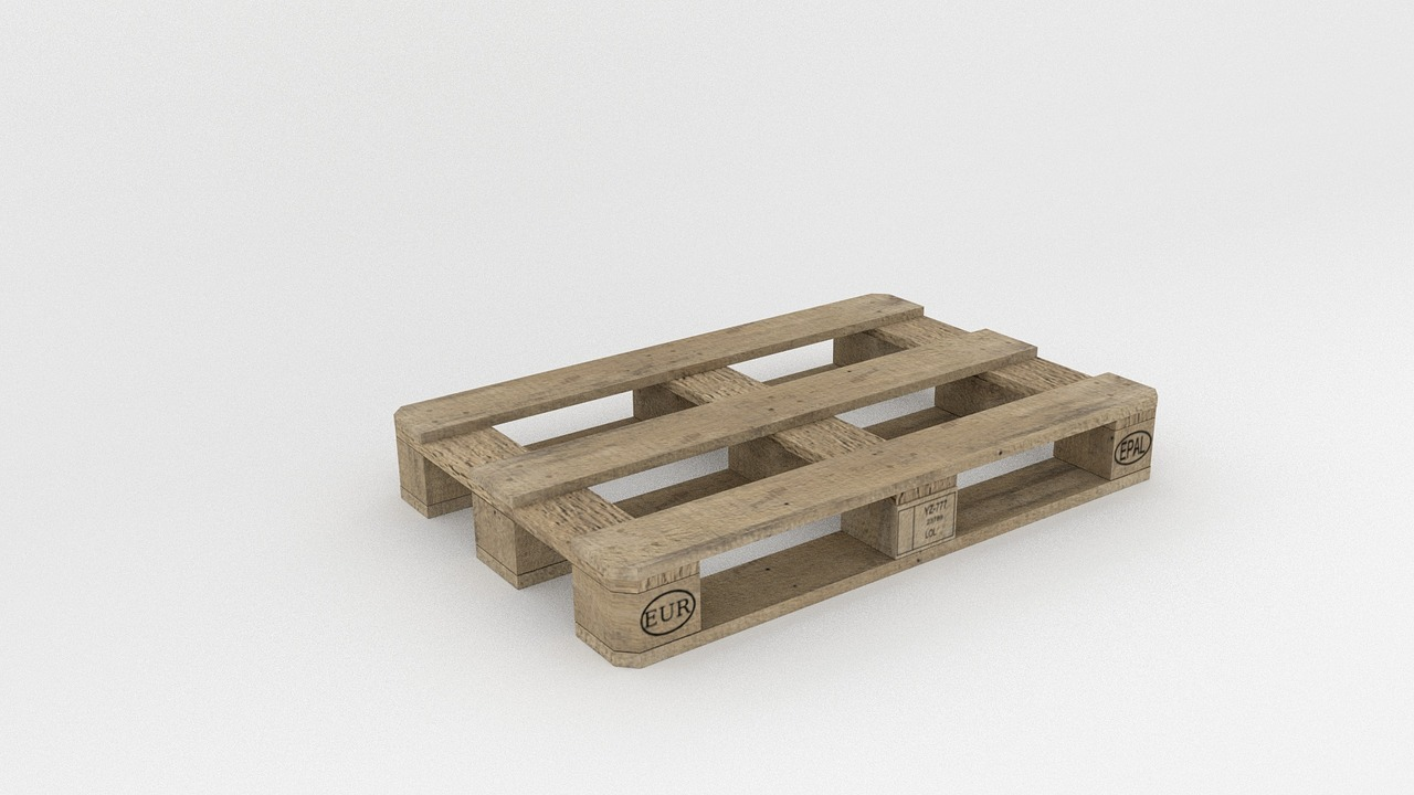 A wooden pallet like this can help goods be transported with the help of a semi electric pallet stacker.